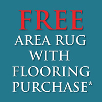 Free area rug with flooring purchase*