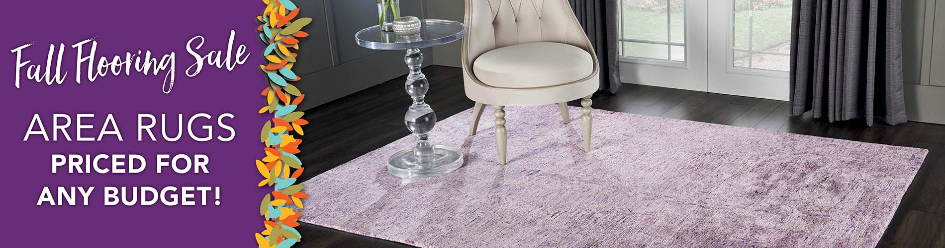 Area rugs priced for any budget!