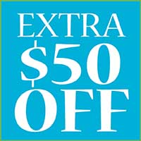 EXTRA $50 OFF ANY FLOORING OR RUG PURCHASE PF $499 OR MORE.