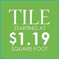 TILE  FIRST QUALITY . IN-STOCK  STARTING AT  $1.19 SQ. FT.
