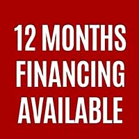 12 MONTHS FINANCING AVAILABLE!  NO INTEREST! NO PAYMENTS, SAME AS CASH! NO DOWN PAYMENT REQUIRED!